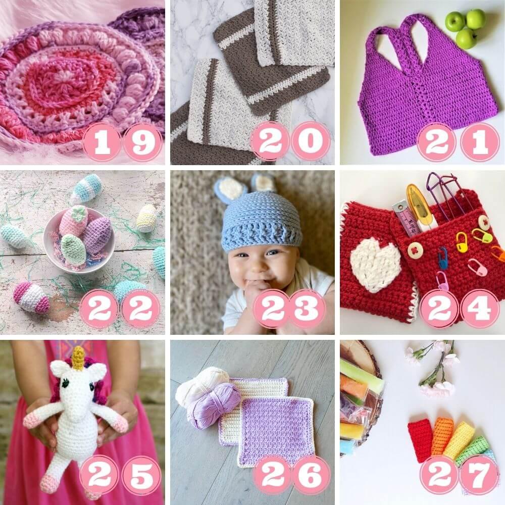 Scrap yarn projects week 2 projects 19 to 27