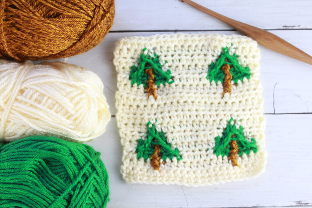 pine tree crochet stitch pattern