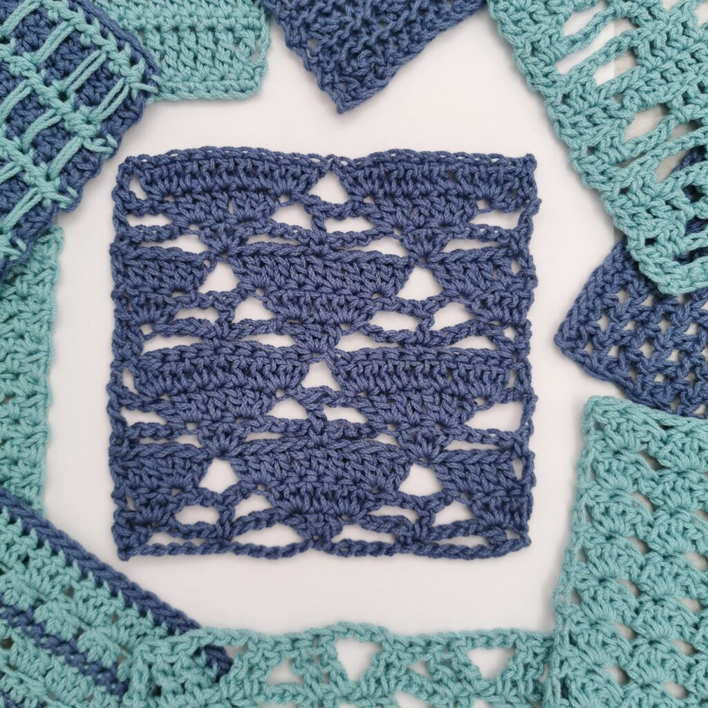 triangles and trees crochet stitch tutorial