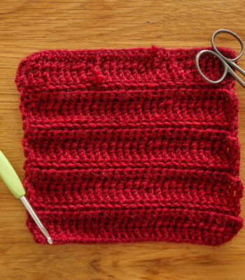 railroad crochet stitch for blankets