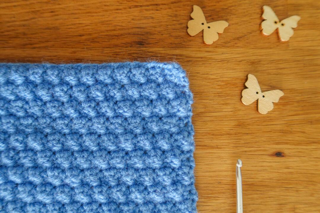 mini bobble crochet stitch tutorial