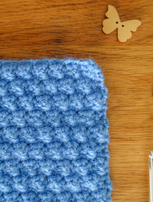 mini bobble crochet stitch tutorial