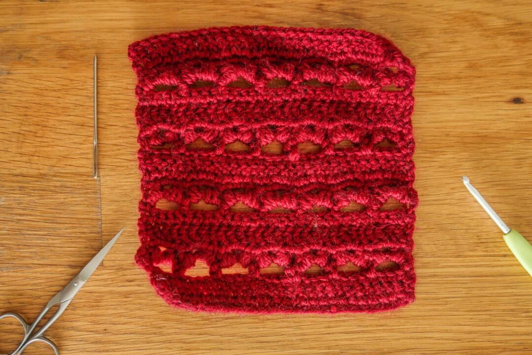 Cherry Puff crochet stitch tutorial