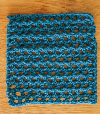 easy crochet mesh stitch pattern