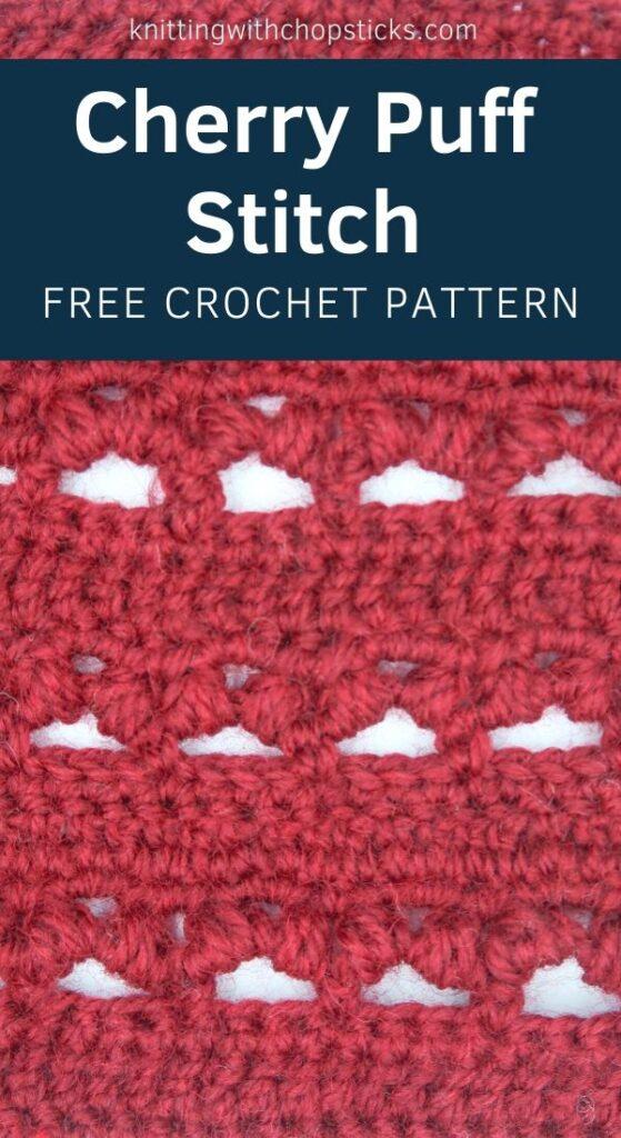 Cherry Puff Crochet Stitch Pattern step by step
