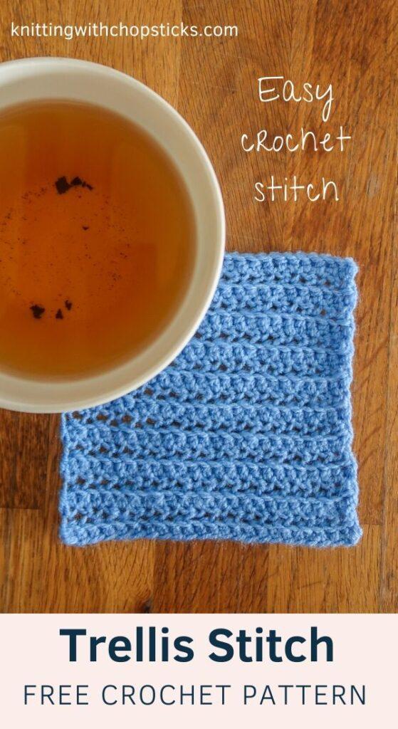 Easy crochet stitch tutorial step by step
