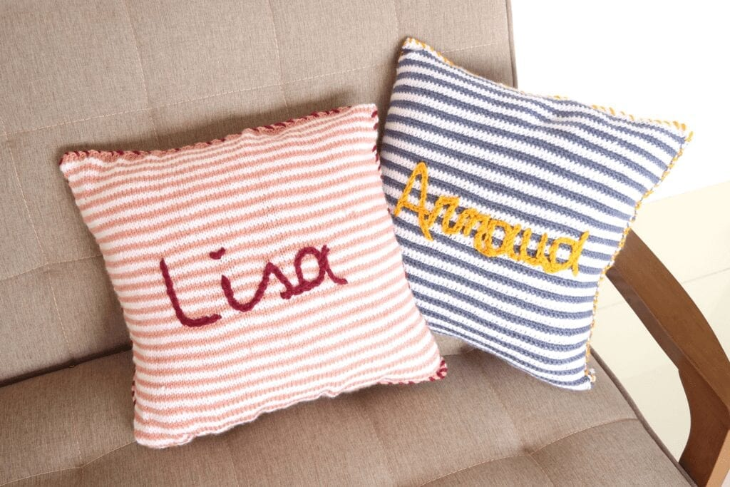 Baby knitting pattern for knit throw pillow