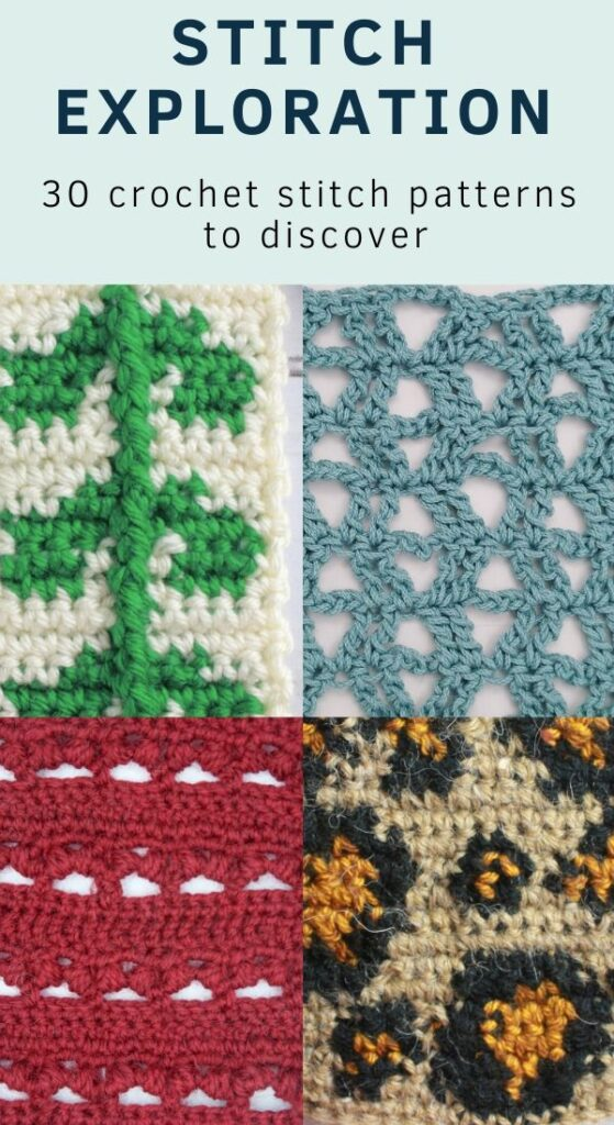 30 easy crochet stitches patterns FREE