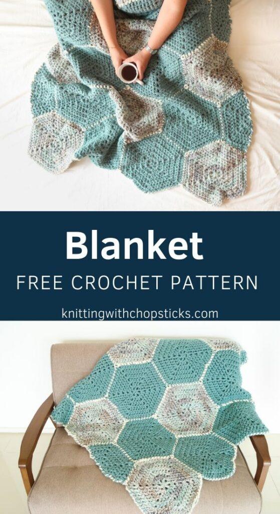 Super chunky crochet blanket pattern FREE