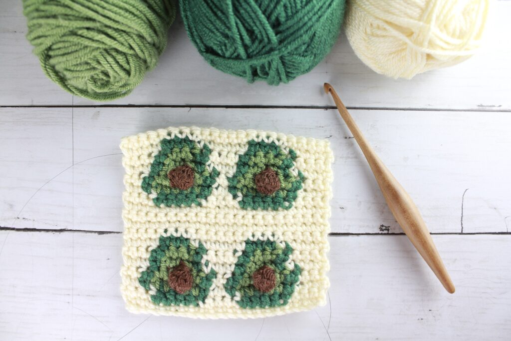 avocado crochet stitch pattern