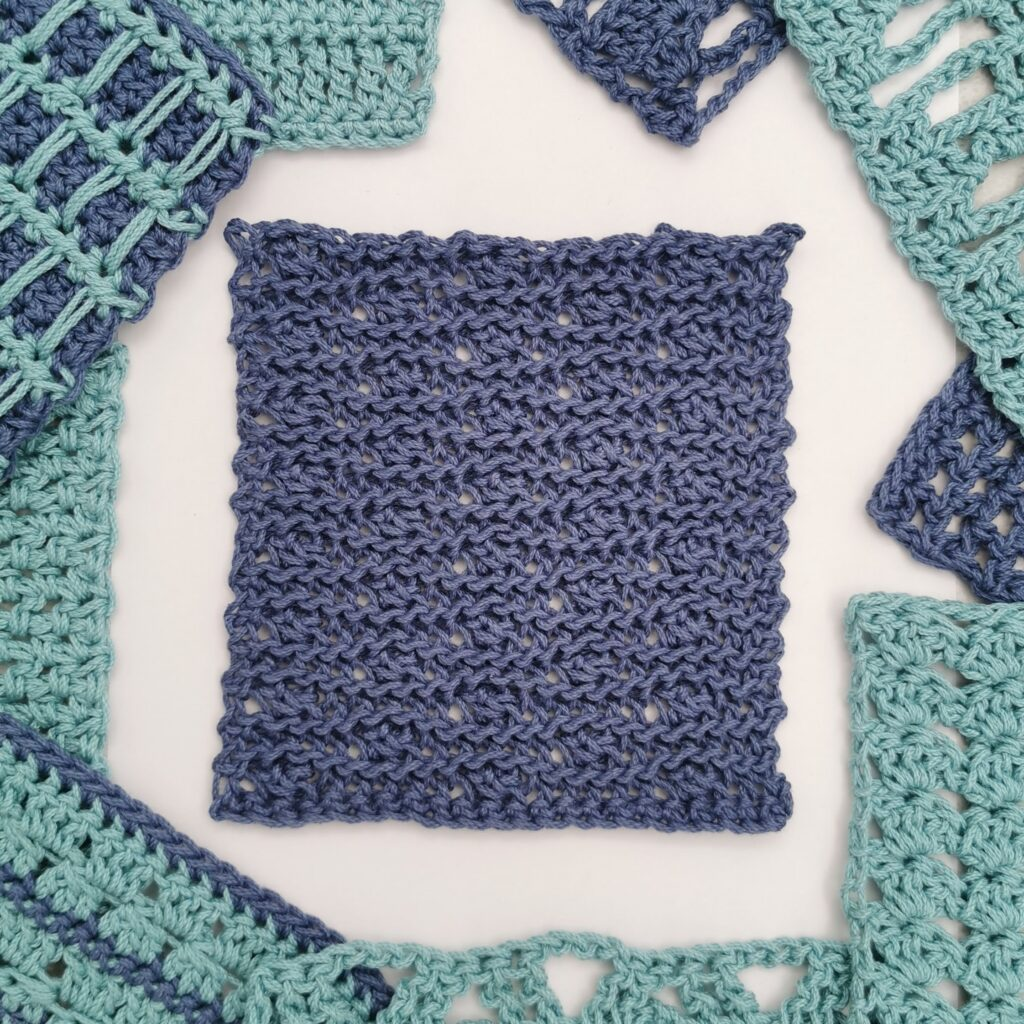 crossed and rippled easy crochet stitch