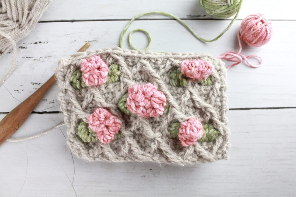 flower trellis crochet stitch pattern