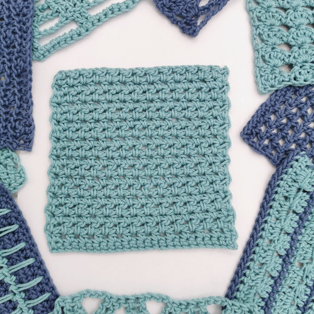 hdc and chain even basic crochet stitch