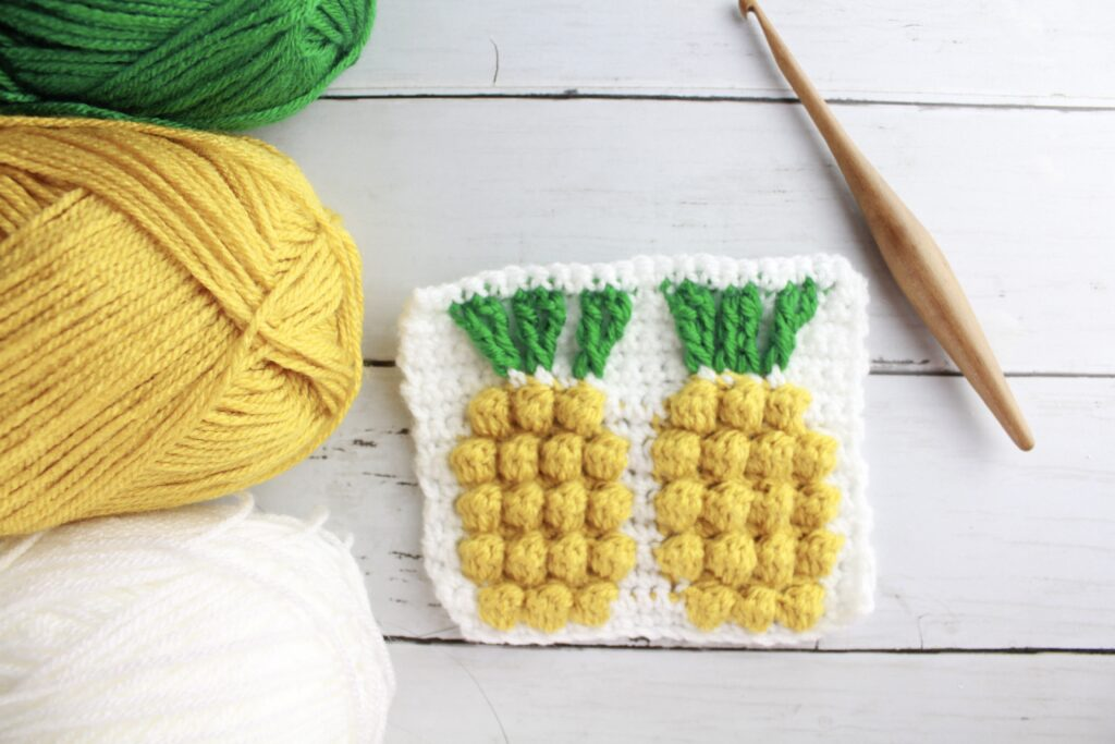 pineapple easy crochet stitch pattern