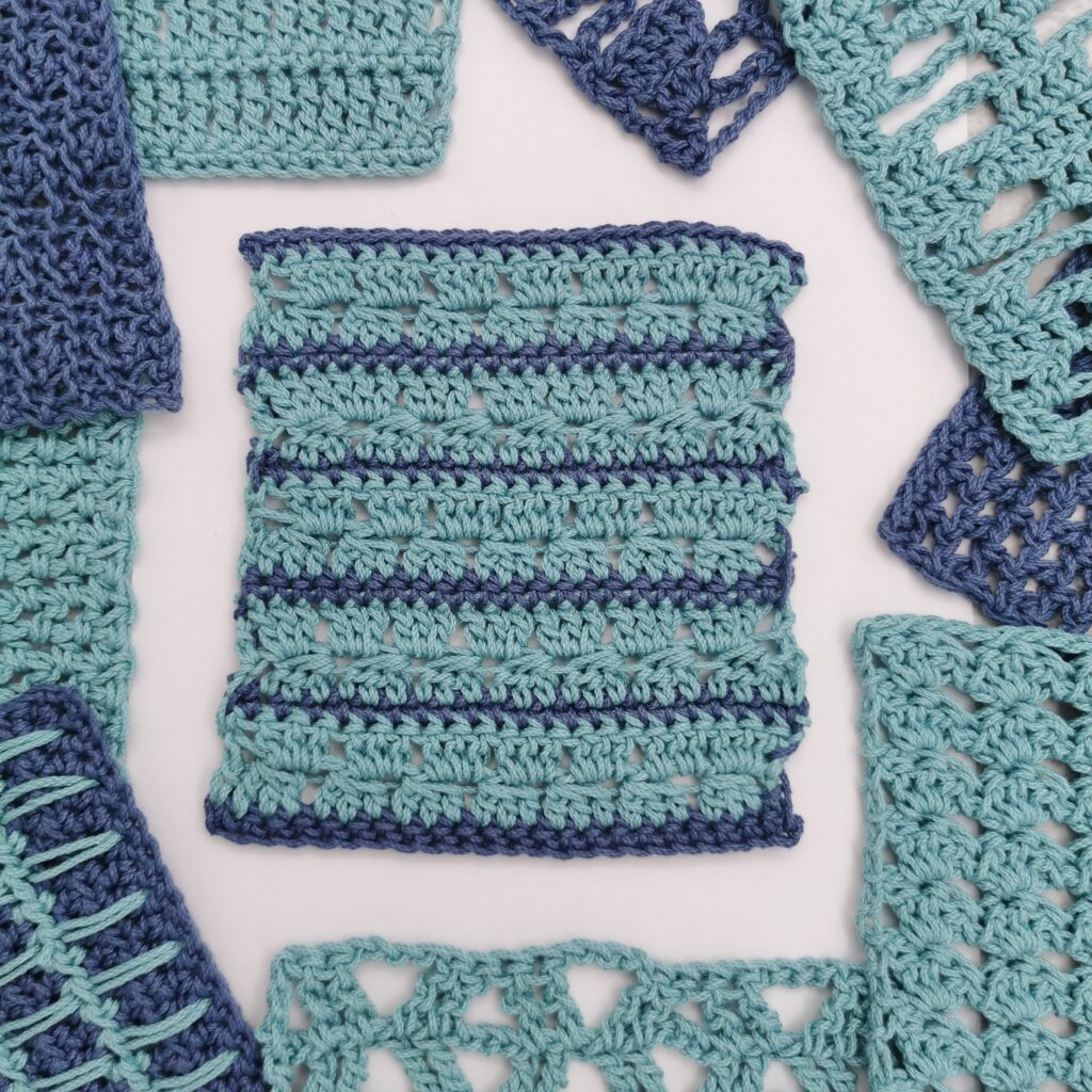 waves and striped crochet stitch pattern
