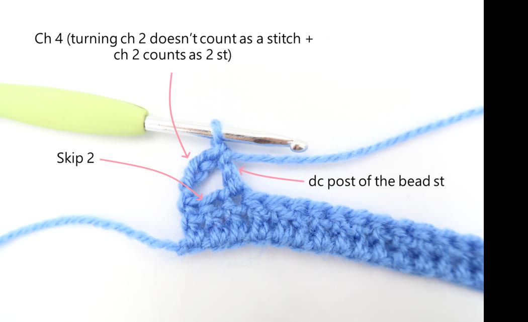 vase stitch pattern step 2
