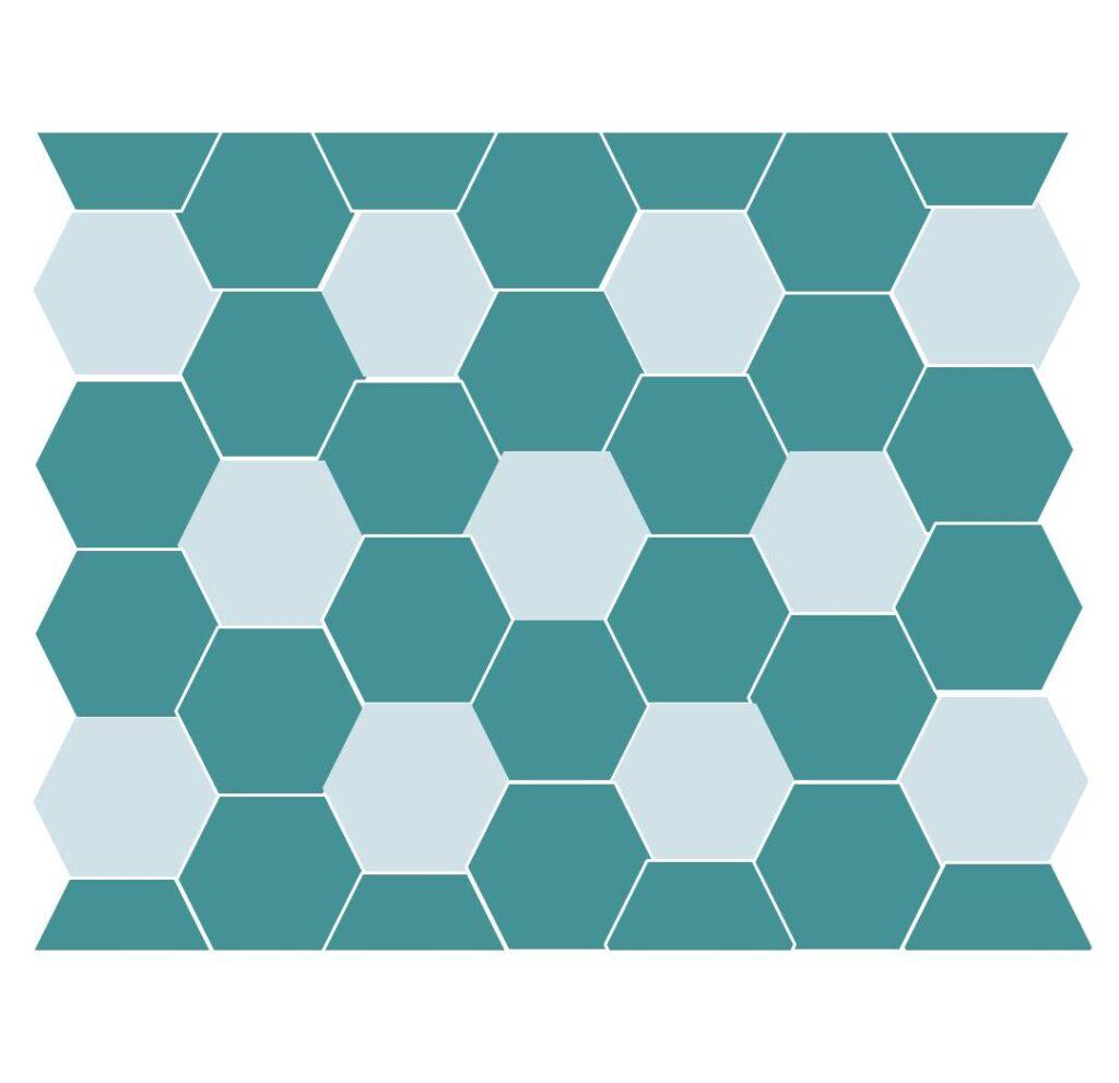 Hexagon flower crochet blanket pattern position the hexagons
