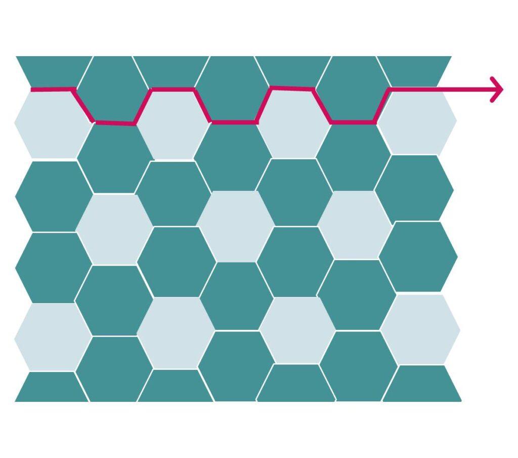 Make the long horizontal seams