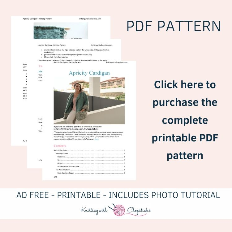 ad-free printable pdf of the apricity cardigan knitting pattern