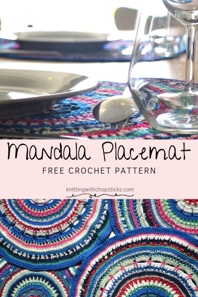 mandala free placemat crochet pattern