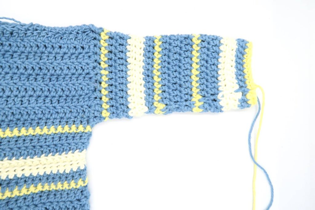 Step 8 : boy crochet baby pattern