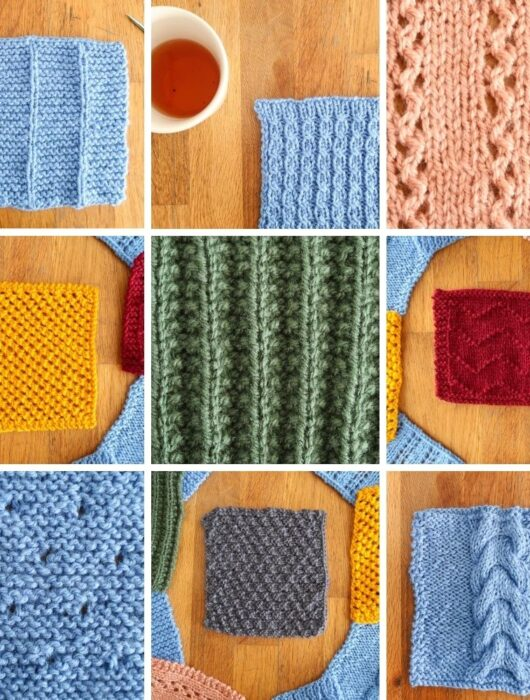 10 free knit stitch patterns
