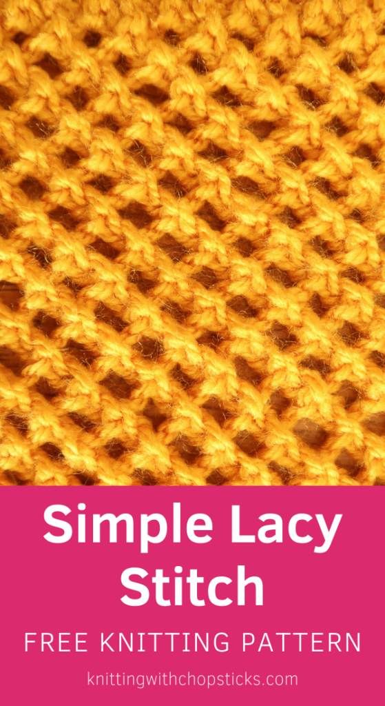 Simple Lacy Knit Stitch Pattern