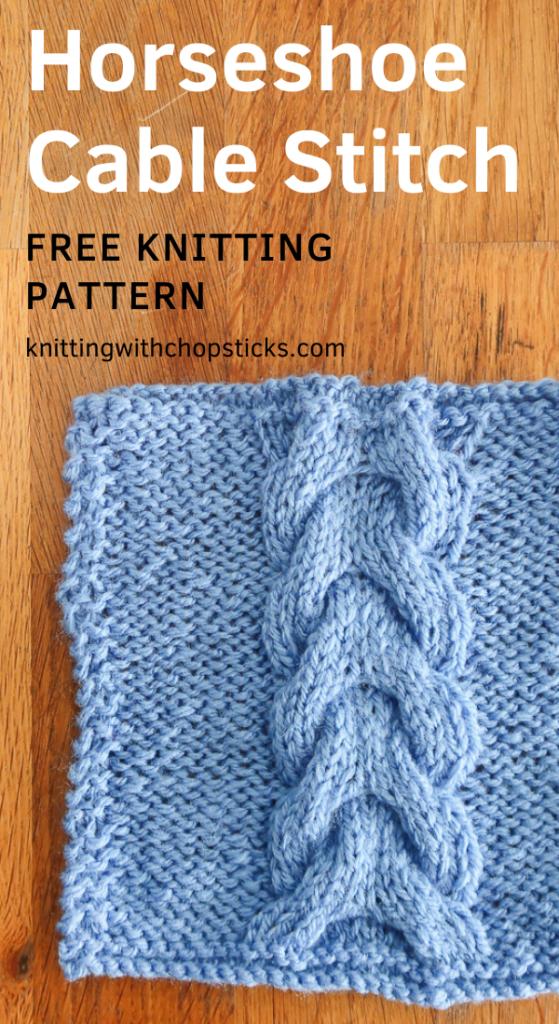 Horseshoe Cable knit stitch pattern