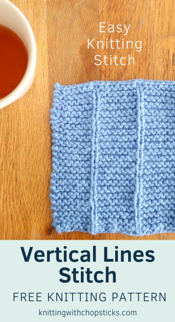 Vertical Lines knit stitch tutorial