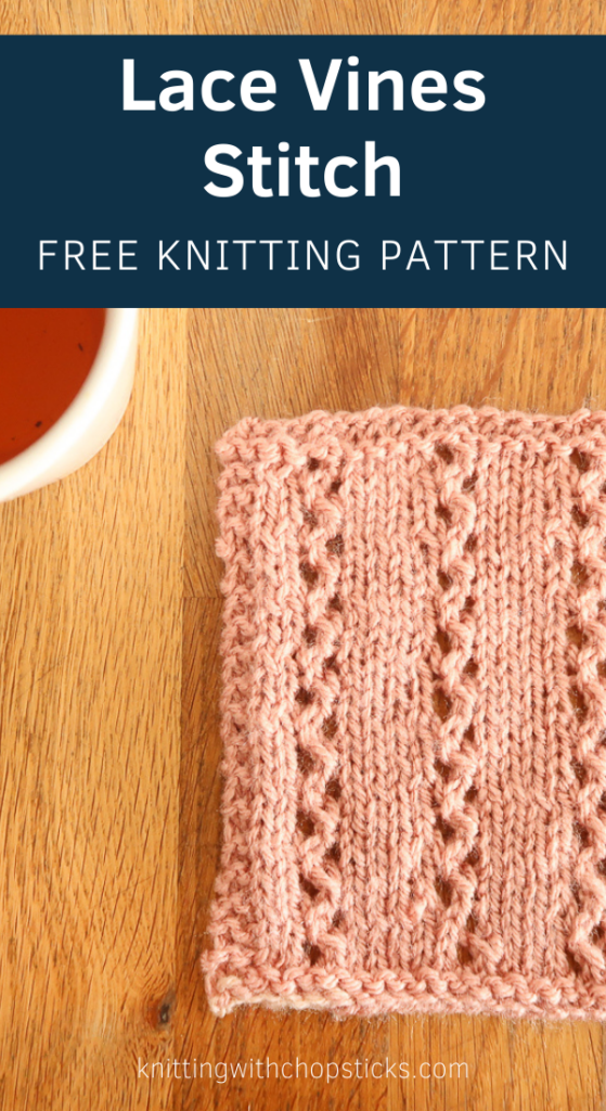 Lace Vines knitting stitch pattern