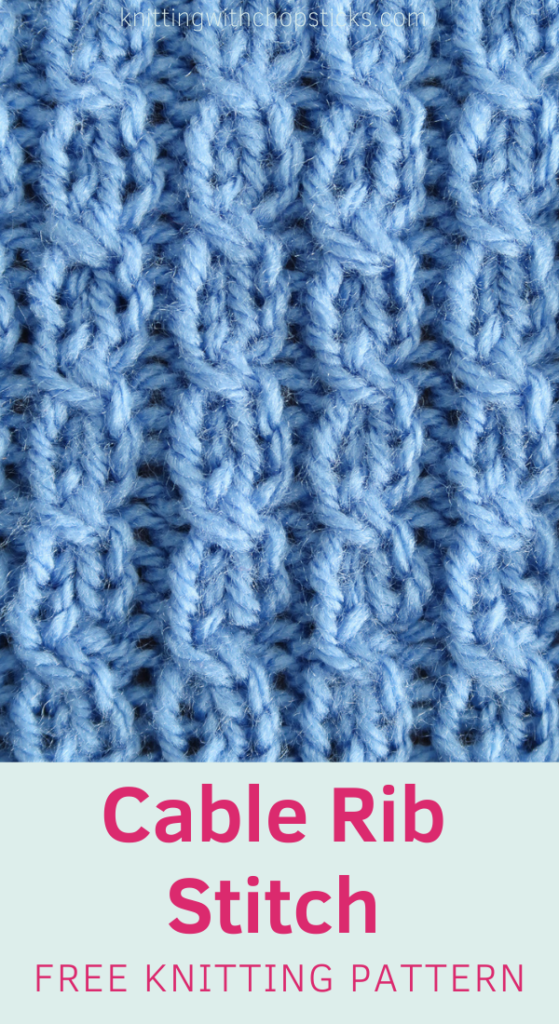 Cable Rib knitting stitch pattern