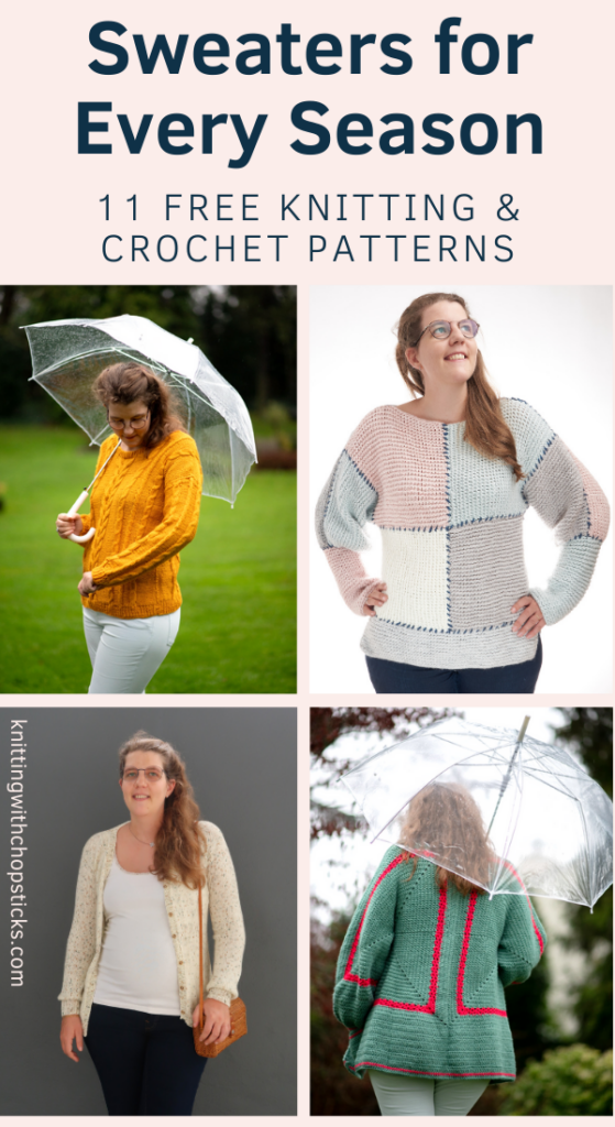 11 knit and crochet sweaters for every season - free knit sweater patterns