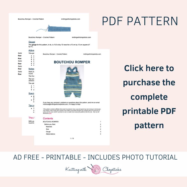 boutchou baby crochet romper printable pdf pattern
