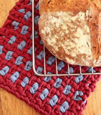Linen crochet potholder pattern
