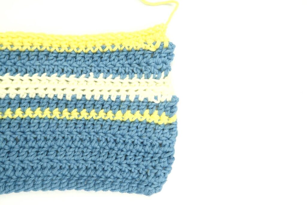one repeat of the blanket crochet pattern