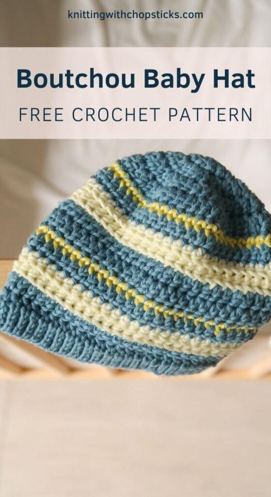 Free Baby Hat Crochet Pattern: Boutchou Hat