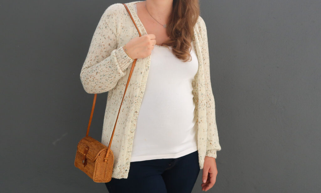 salt and pepper knit cardigan pattern - summer knit sweater