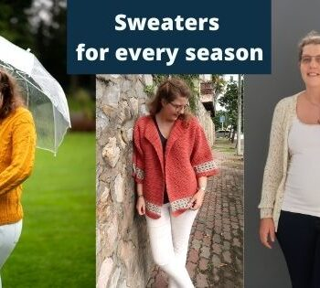 Free Knit and crochet sweater patterns for every season
