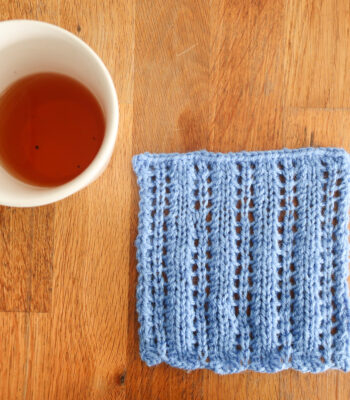 Lattern Stitch - easy knit stitch pattern
