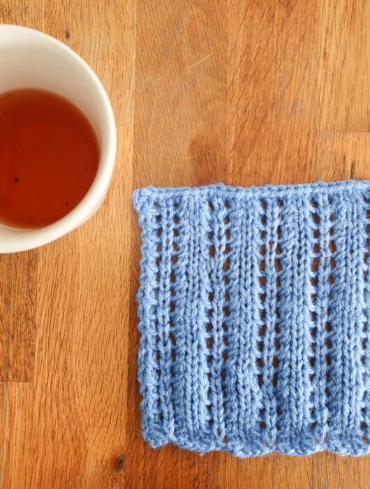 Lattern Stitch - easy knit stitch pattern