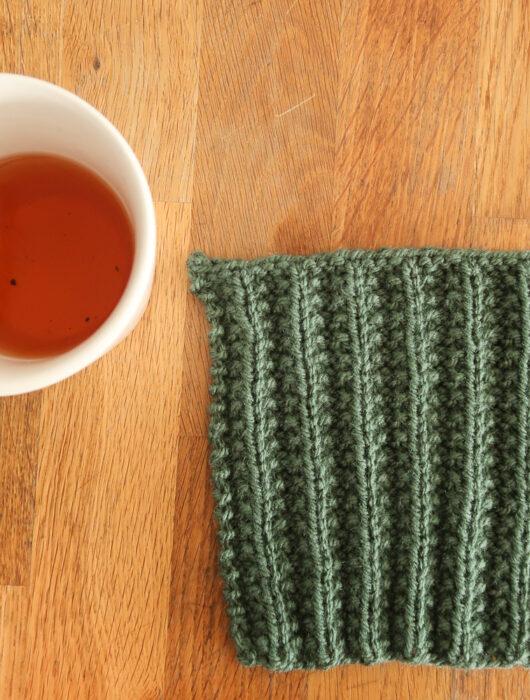 Seed Rib knit stitch tutorial