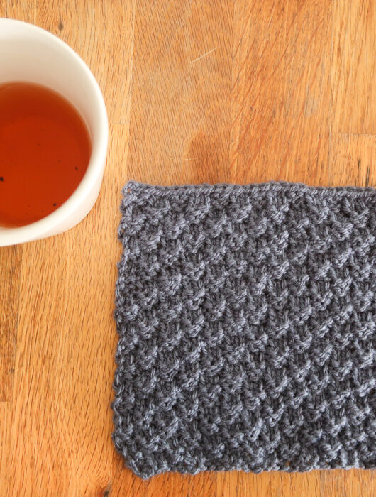 Mini Squares knit stitch tutorial