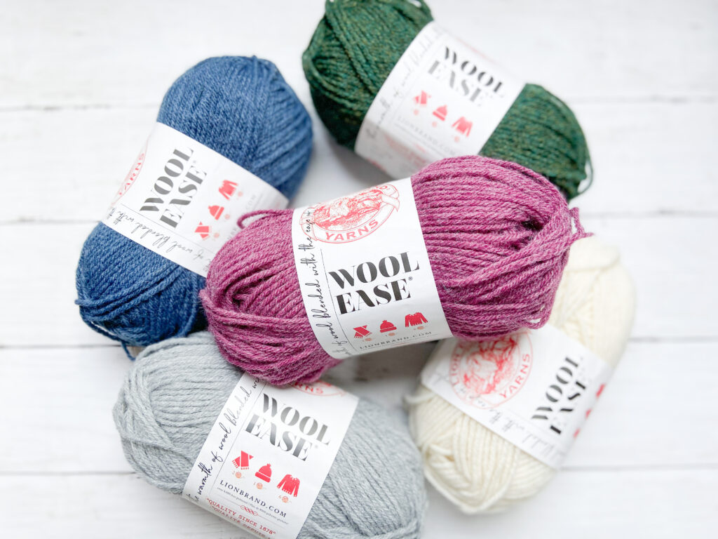 lionbrand wool ease yarn