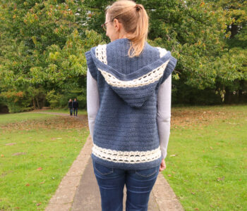 hooded vest crochet pattern FREE