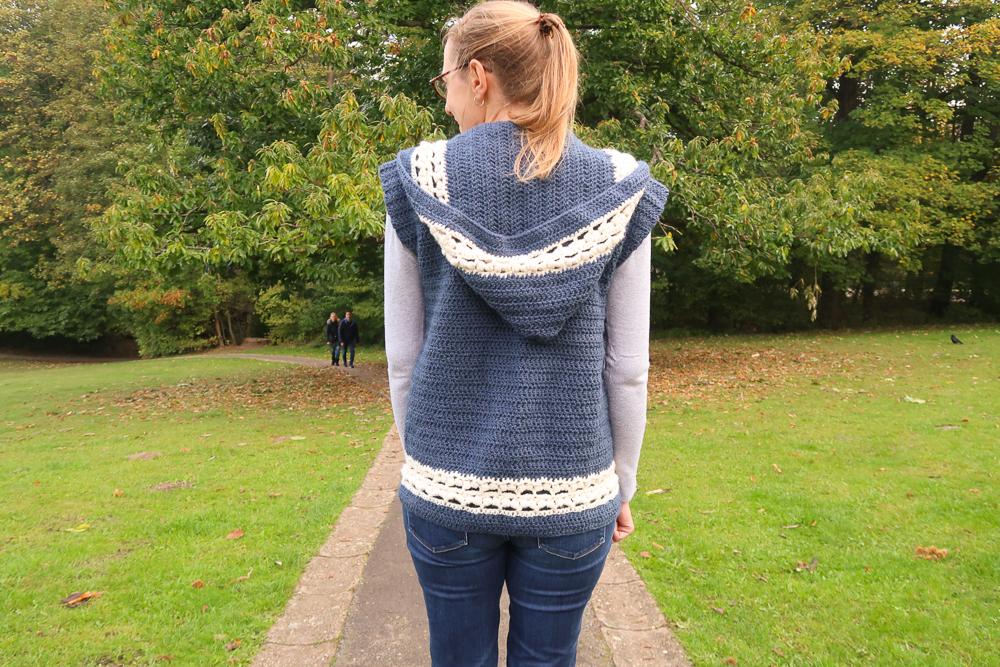 hooded vest crochet pattern FREE