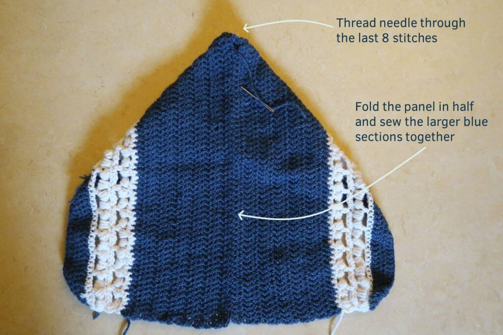 Assemble the crochet hoodie