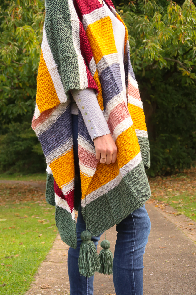 free poncho knitting pattern