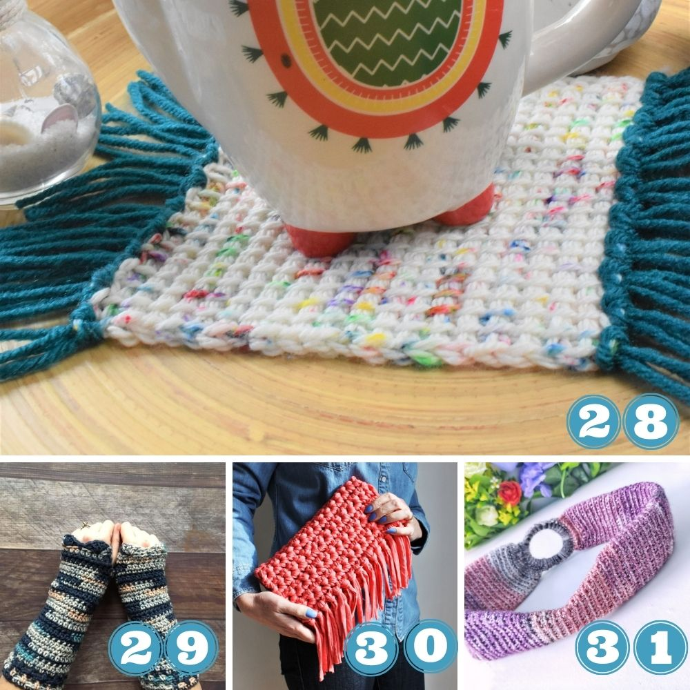what to do with leftover yarn? Yarn stash projects for both knitting and crochet
