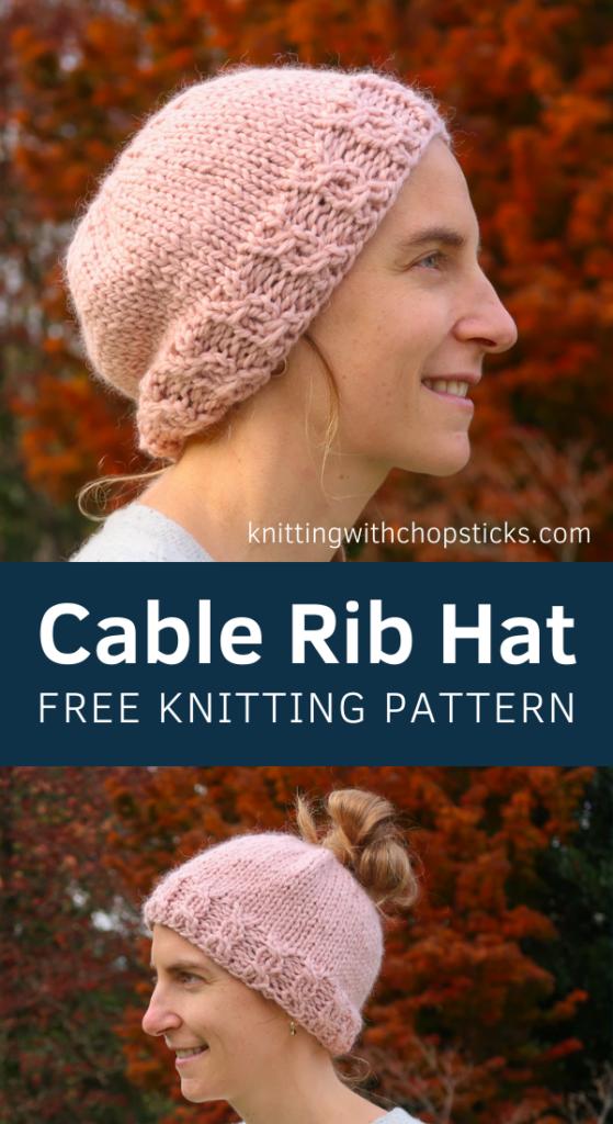 free knit messy bun beanie pattern