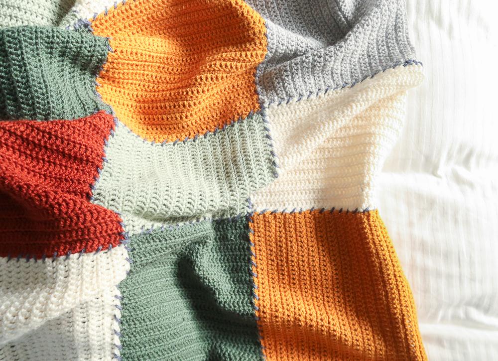 Stash buster free beginner crochet blanket pattern